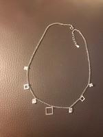 Modern ezüst (925) nyaklánc cirkónia medálokkal