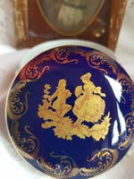 Limoges Bleu de four francia porcelàn bonbonier