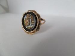 Mikromozaik antik arany gyűrű