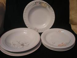 9 Db,virágos Porcelán Tányérok Hibátlanok egyben eladóak