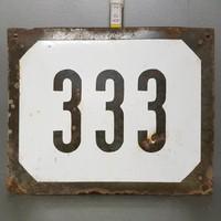 """""""333"""" házszám zománctábla (1122)"""