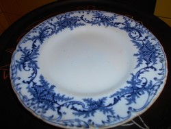 Hüttl Tivadar jelzésével antik fajansz cauldon  tányér