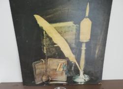Retro presszó, kávéházi dekorációs kép