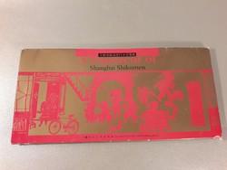 Shanghai Shikumen eredeti különleges képeslap mappa 14 db -os