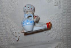 Zsolnay jug annuska figurine