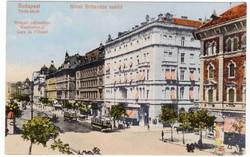 Hotel Britannia képeslap, Budapest Teréz krt. 1917