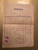 Szàmla 1947,1948 számla illetèk bélyeggel.