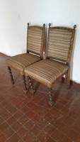 Antik koloniál kárpitozott, rugós szék párban eladó!