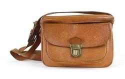 1A356 Régi barna bőr kamera táska fotós táska
