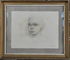 Fejér Csaba (1936-2002): Női portré