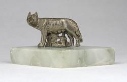 1A323 Róma születése kisméretű dísztárgy Romulus és Remus az anyafarkassal
