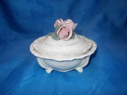 Régi német ENS porcelán bonbonier cukortartó