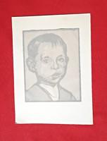 Fényes Adolf, Fiú portré lap a Művészház mappából, 1911