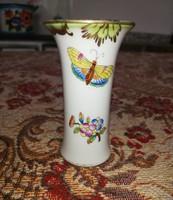 Gyönyörű Herendi Viktória mintás pillangós váza Gyűjtői darab