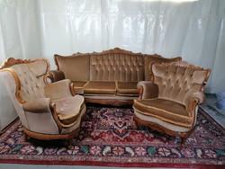 Neobarokk ülőgarnitúra (4 személyes kanapé +2 db fotel)