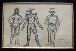 Jánossy Ferenc (1926-1983): Tanulmányok a Cirkusz című festményhez