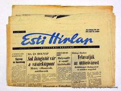 1975 május 24  /  Esti Hírlap  /  Régi ÚJSÁGOK KÉPREGÉNYEK MAGAZINOK Szs.:  14743