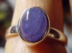 925 ezüst gyűrű, 19,3/30,6 mm, tanzanit drágakővel