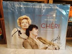 Chéri című film plakátja, Michelle Pfeiffer és Stephen Frears által aláírt
