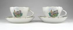1A415 Régi Aquincum porcelán kávéscsésze pár