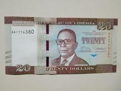 Libéria 20 dollár 2016 UNC