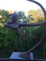 Indián harcos - Hatalmas bronz szobor