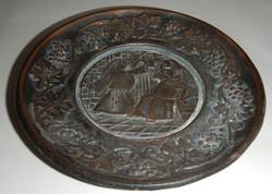 Falra is akasztható bronz tál + másik tál belső része