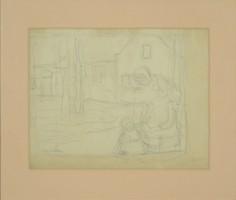 Perlmutter Izsák : Jelenet gyermekkel 1902