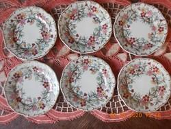Zsolnay bambusz mintás süteményes tányér készlet