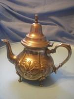 U8  antik nagyméretű ezüstözött kávé/tea kiöntő jelzett