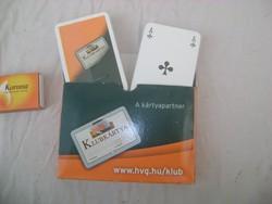 Bontatlan csomag römi kártya dobozában