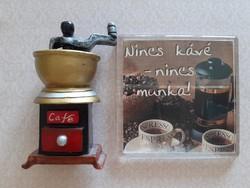 Hűtőmágnes kávédaráló kávé 2 db