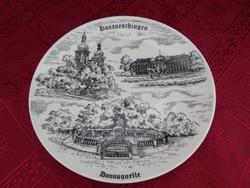 Kleiber Bavaria német porcelán falitányér, átmérője 17,5 cm.