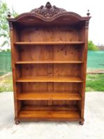 Gyönyörű Felújított Antik Ónémet  Könyves szekrény!!!