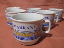 6 db Zsolnay Harkány bögre, csésze