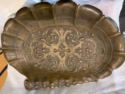 Névjegy kártyatartó bronz kagyló formájú