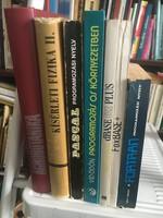 7 db szakkönyv:Agrobotanika, Kísérleti fizika, Programozás: Pascal, Fortran, dBase, Foxbase, OS