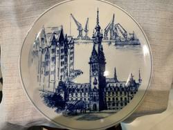 Meisseni tányér kék festéssel