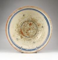 1A497 Antik hódmezővásárhelyi Csúcsi kerámia falitál 1800 évek vége 26 cm