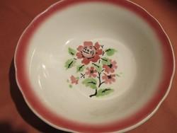Rózsás Kispesti Gránit tál rózsaszín szegéllyel