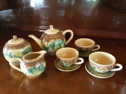 Bolgár kerámia teáskészlet 3 személyes