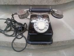 Vezetékes telefon cb 24 mintájú eredeti alkatrészekkel működőképesen, 1925-ben gyártott. állapot a k