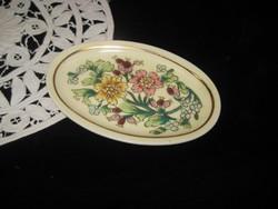 Zsolnay kézi festésű  kis tálka 11,5 x 7,5 cm