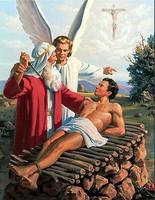 IZSÁK BIBLIAI JELENETE FESTMÉNY, LÁTVÁNYOS NAGY  OLAJFESTMÉNY, LUXUS AJÁNDÉK