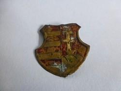 Antik,magyar címeres sapkadísz