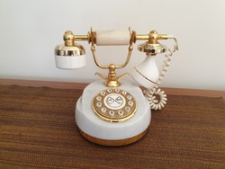 Retro régi tácsás márvány nosztalgia telefon
