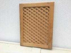 Fa rács fali dekoráció fenyő ablak apácarács szellőzőrács