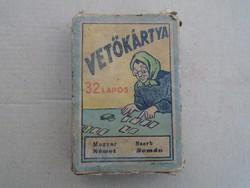 1910-es évek 32 lapos Vetőkártya + Doboza !