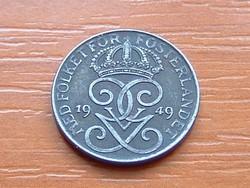 SVÉDORSZÁG 1 ŐRE 1949 WW II VAS 1,7 g, 16 mm   ( KEDVEZMÉNY LENT!!)