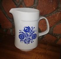 Alföldi porcelán kék mintás kancsó, Nosztalgia darab. 20 cm maga